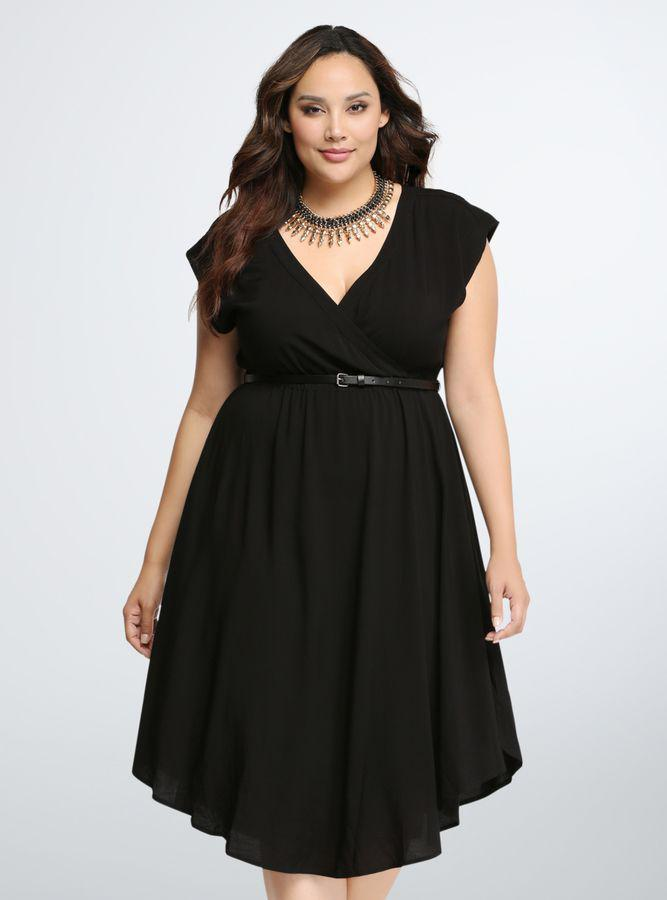 Black midi dresses plus size