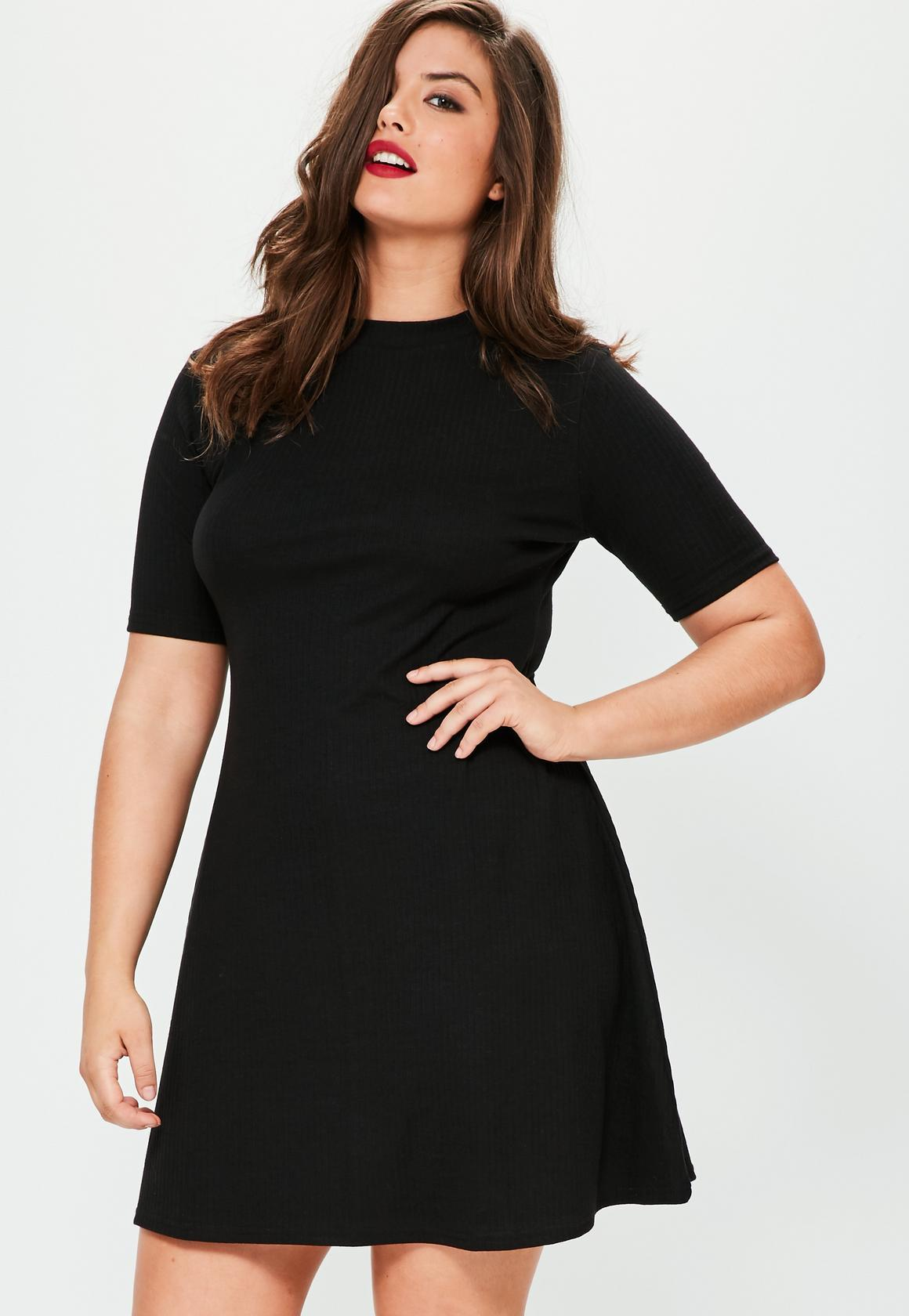 basic black dresses plus size 2