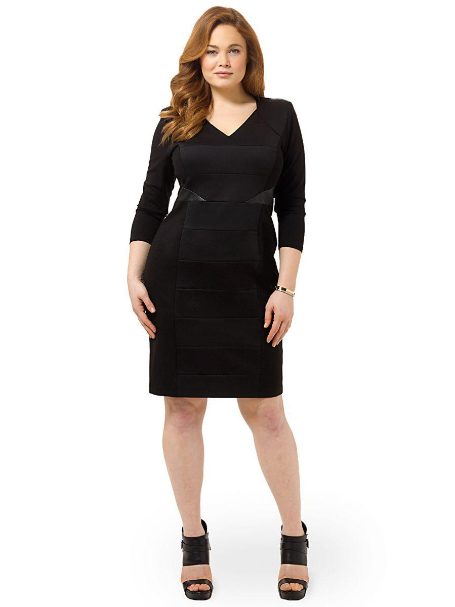 basic black dresses plus size