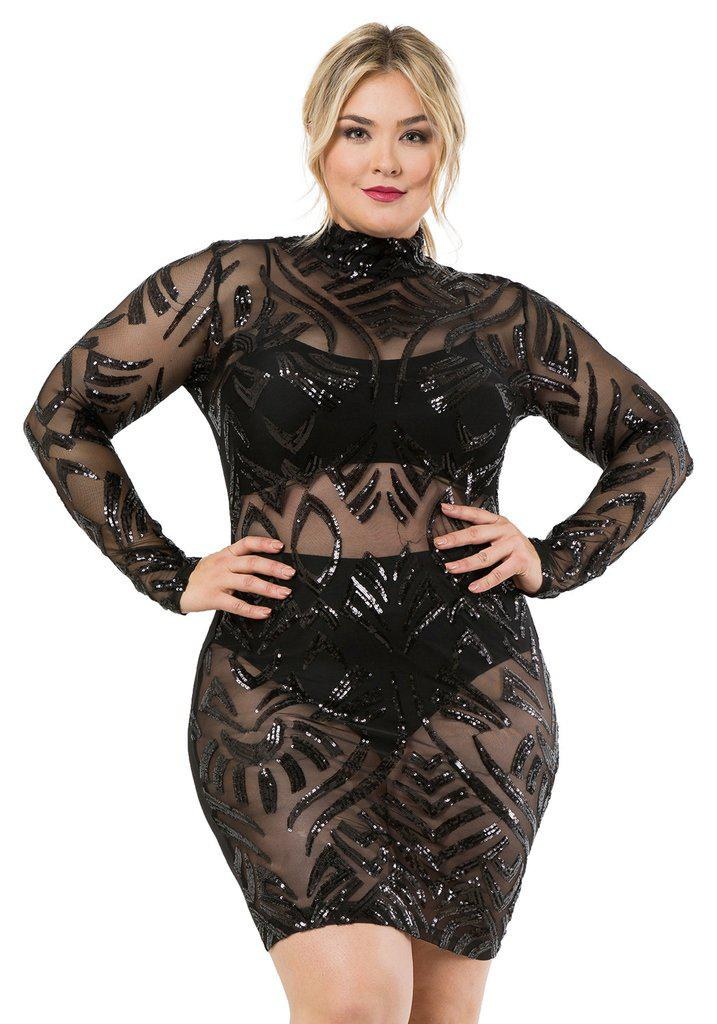 black party dress plus size 3