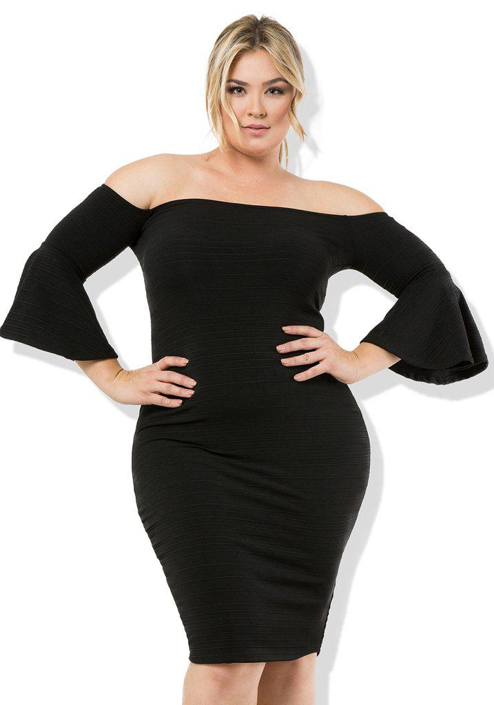 black party dress plus size