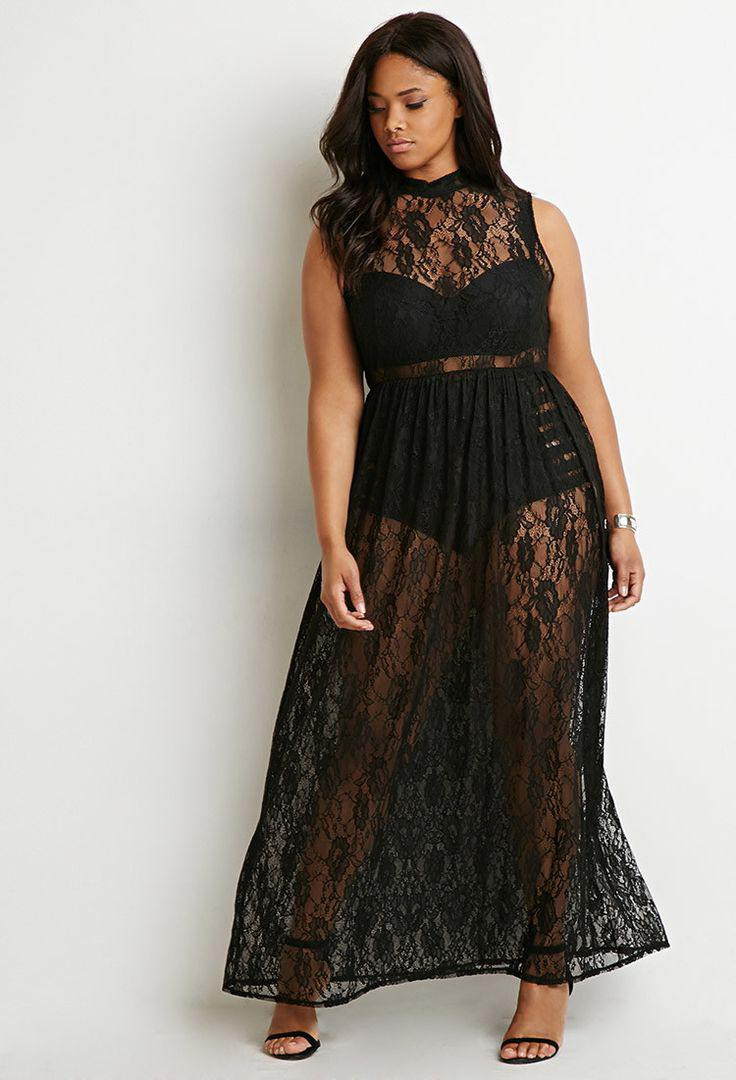 black plus size prom dress