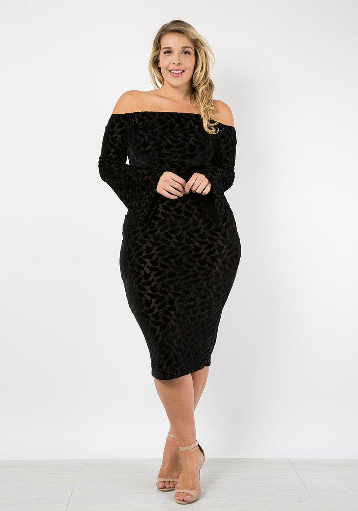 black velvet dress plus size 3