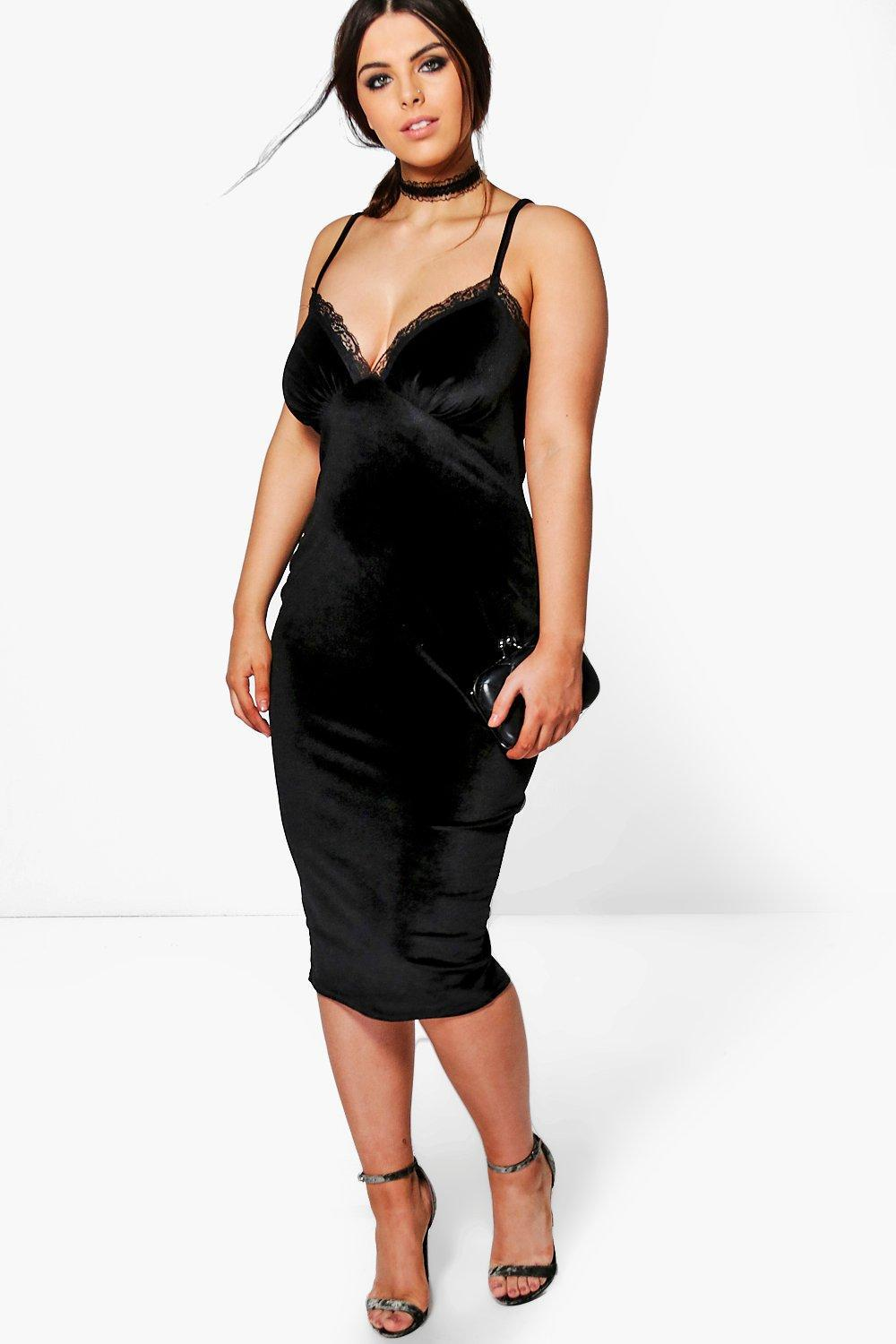 black velvet dress plus size