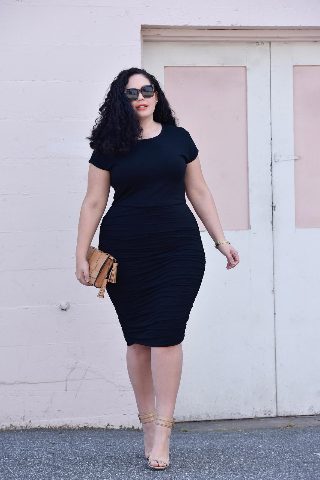 little black dress in plus size 2
