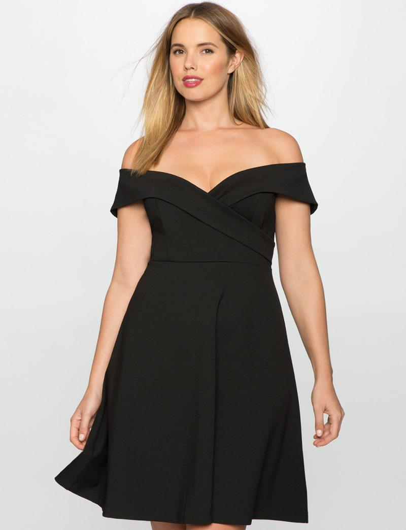 little black dress in plus size 3