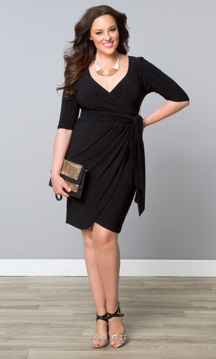 little black dress in plus size