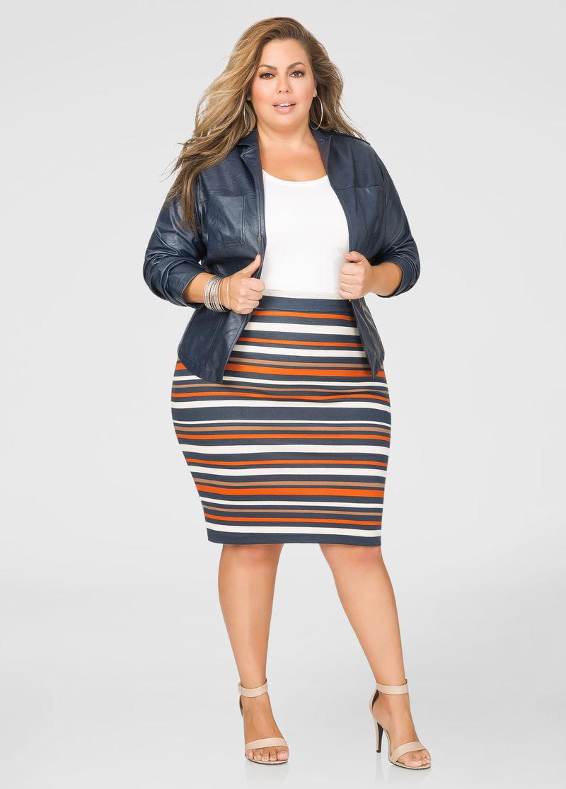 Plus Size Pencil skirts with patterns