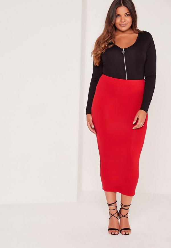 Plus Size Red hot pencil skirts