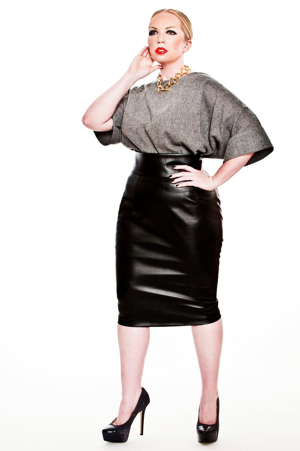 Plus Size pencil skirt outfits