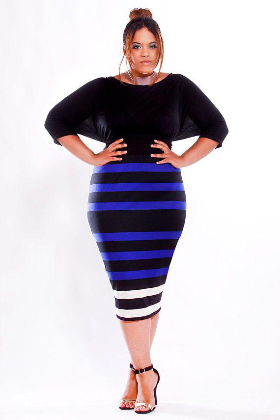 Plus Size Pencil Midi Dresses