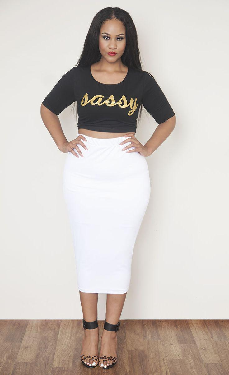 Plus Size long pencil skirts
