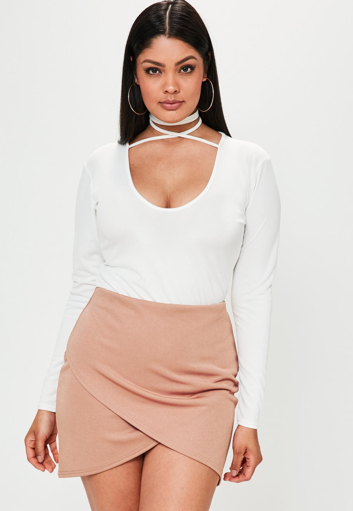 Plus Size Mini Pencil Skirts