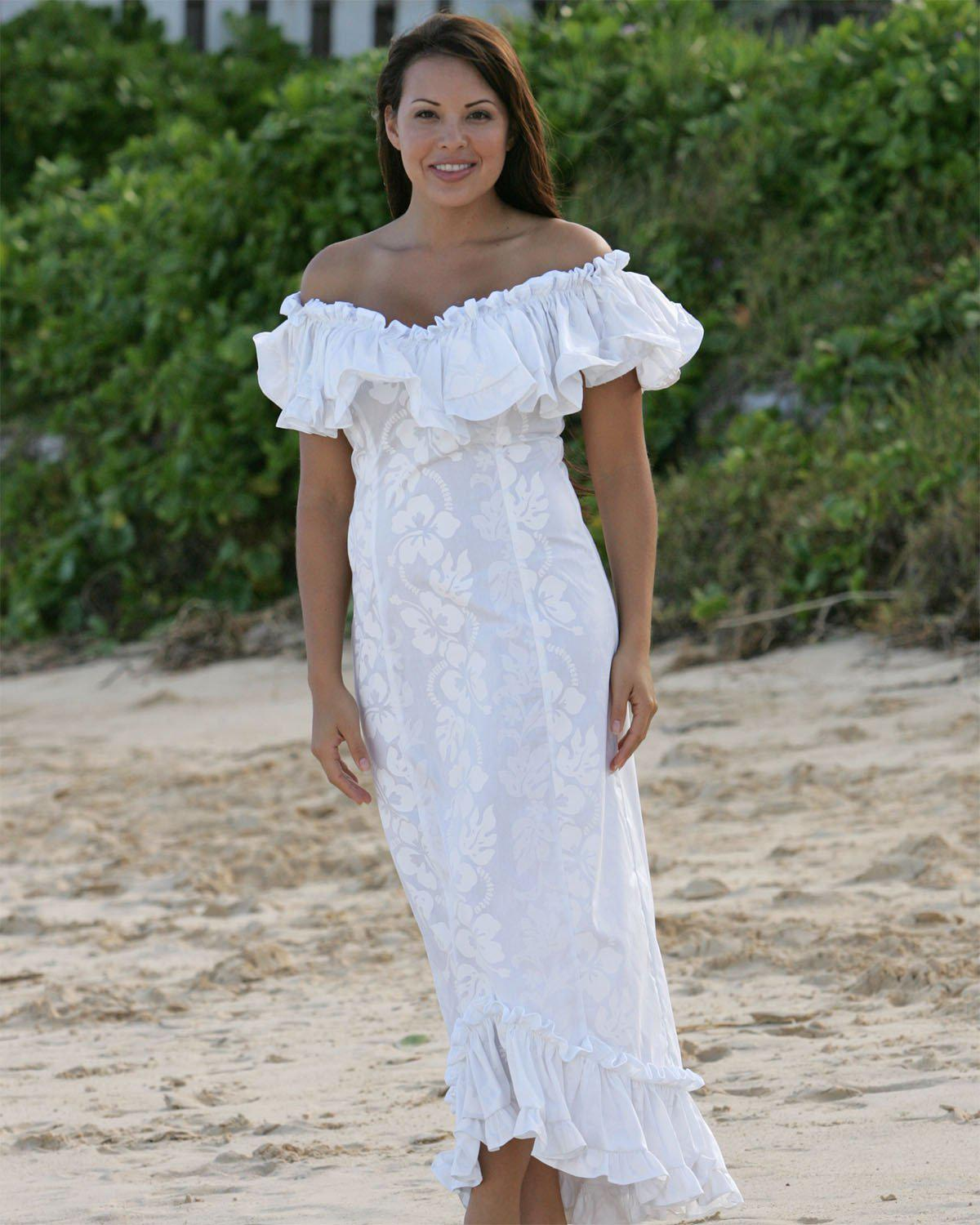 hawaiian wedding dress plus size
