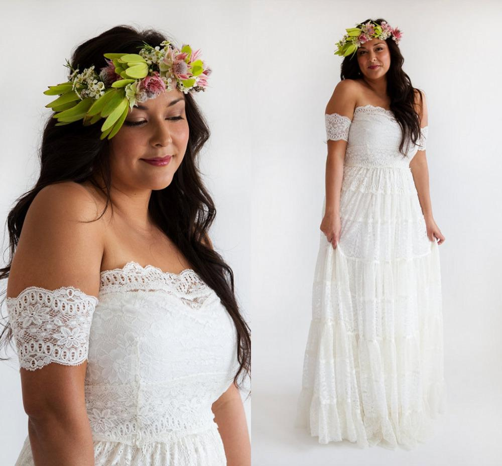 hippie wedding dress plus size