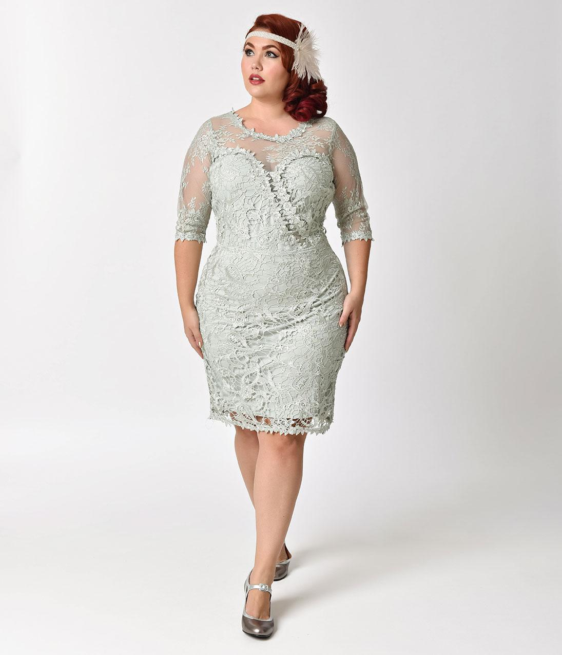 retro wedding dress plus size