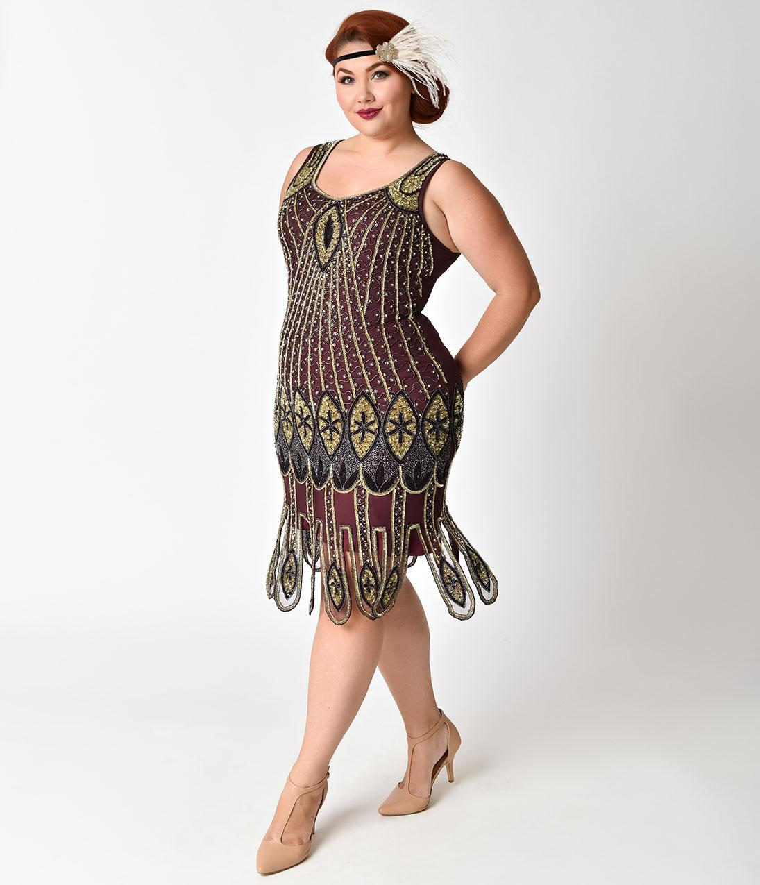 1920 gatsby dress plus size