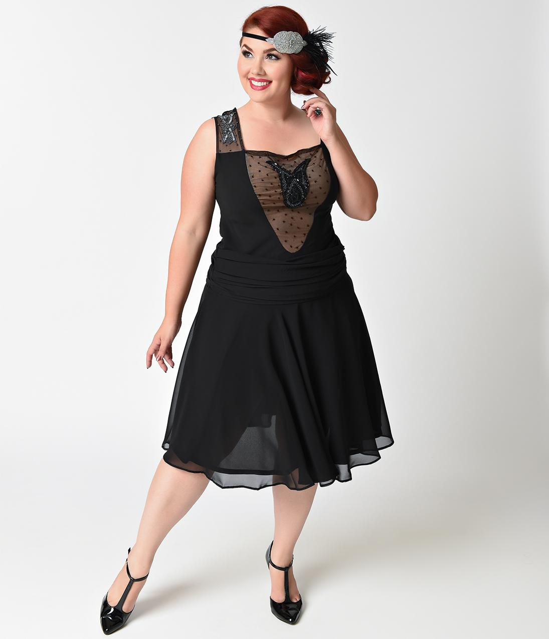 1920s flapper dress plus size